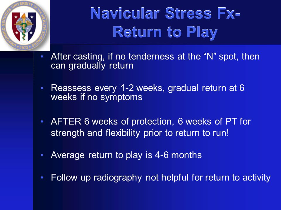Navicular Stress Fx- Return to Play