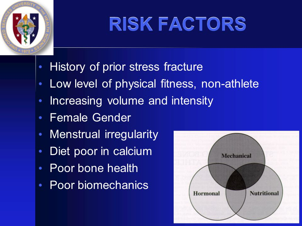 RISK FACTORS History of prior stress fracture