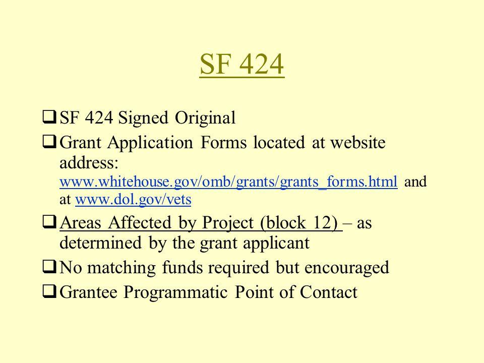 SF 424 SF 424 Signed Original.