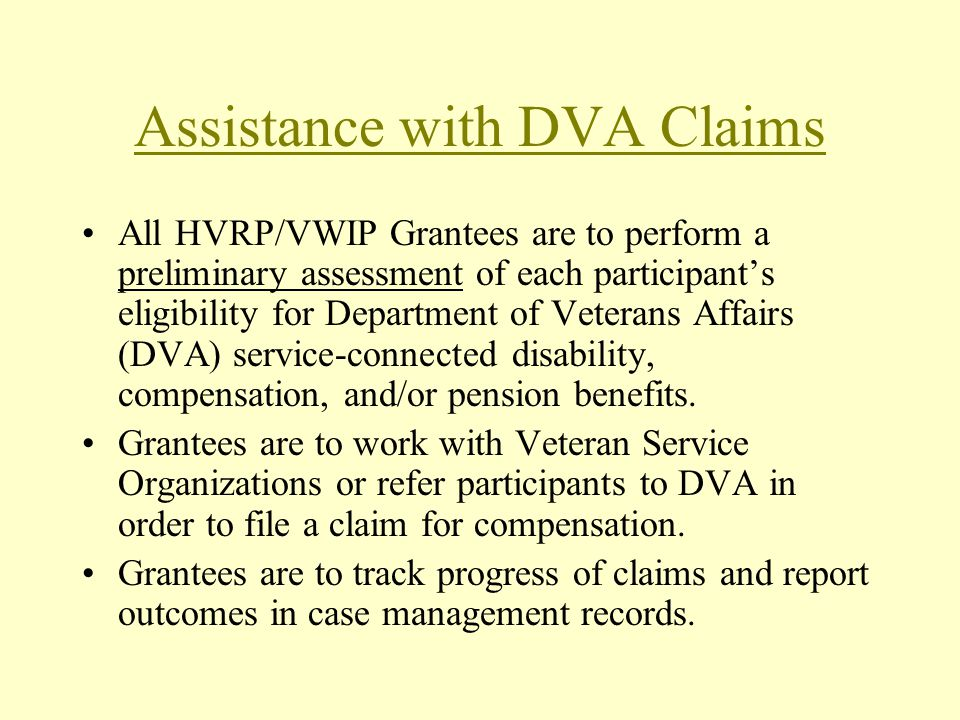 Assistance with DVA Claims