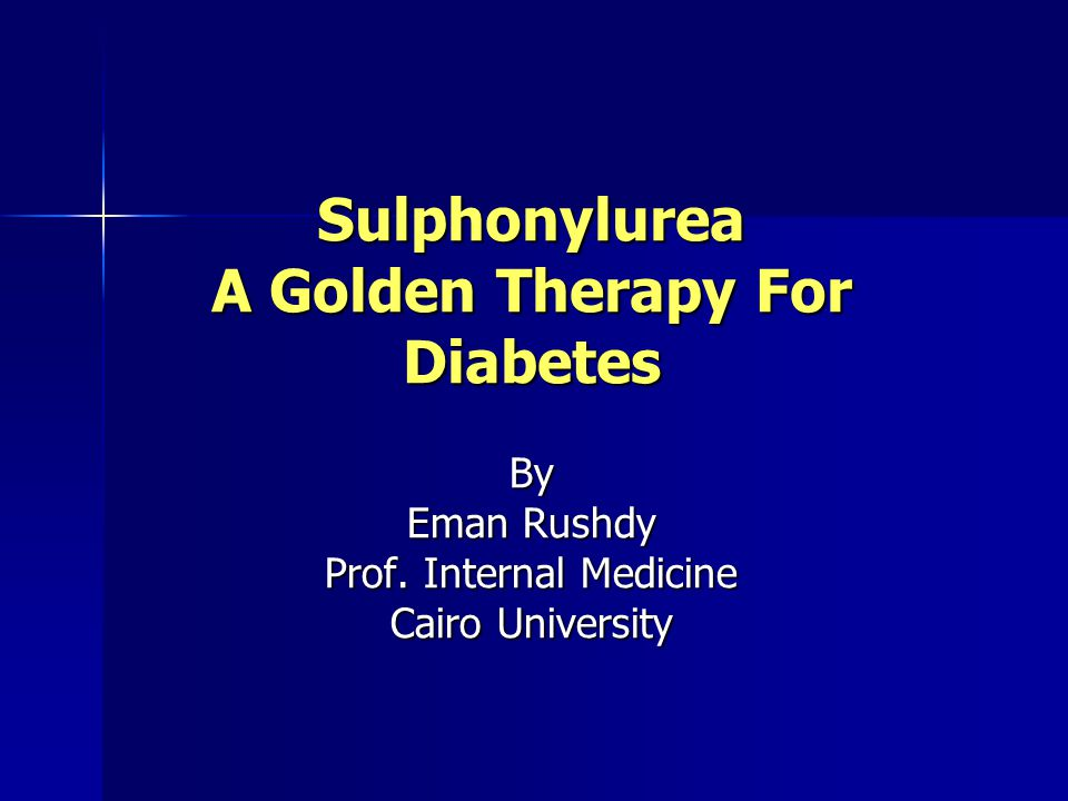 Sulphonylurea A Golden Therapy For Diabetes