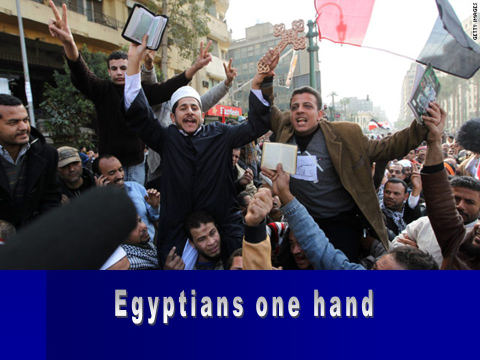 Egyptians one hand