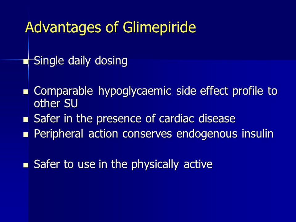 Advantages of Glimepiride