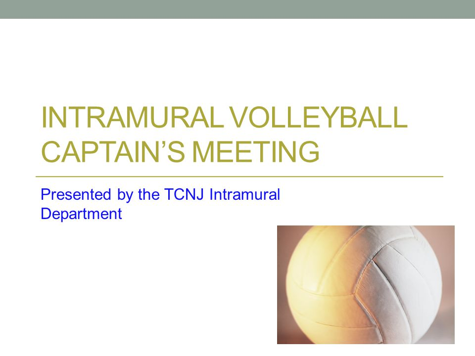 Intramural Volleyball captain's meeting