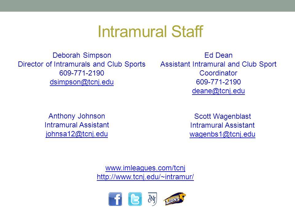 Intramural Staff Deborah Simpson