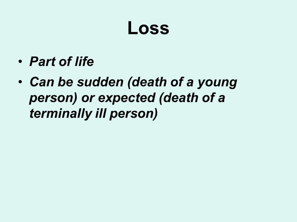 Loss Part of life.