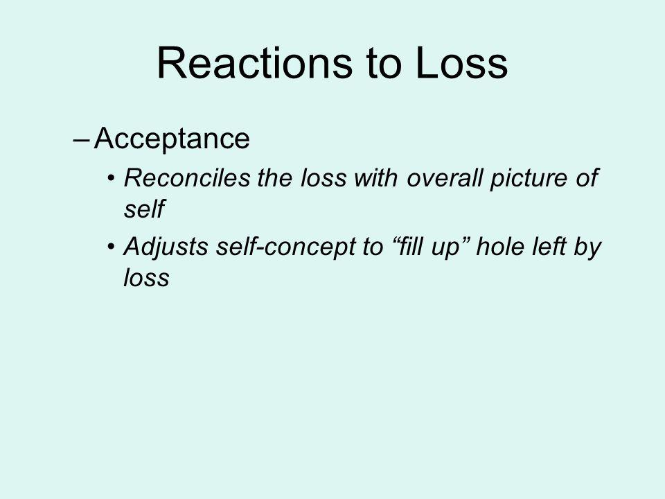 Reactions to Loss Acceptance