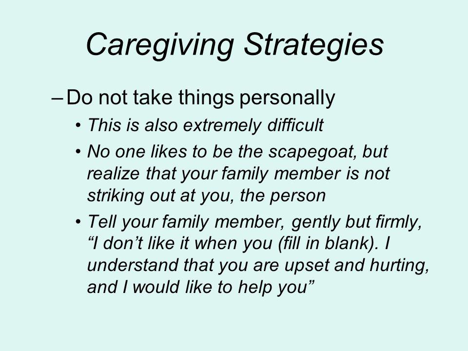Caregiving Strategies