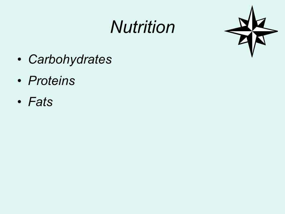 Nutrition Carbohydrates Proteins Fats