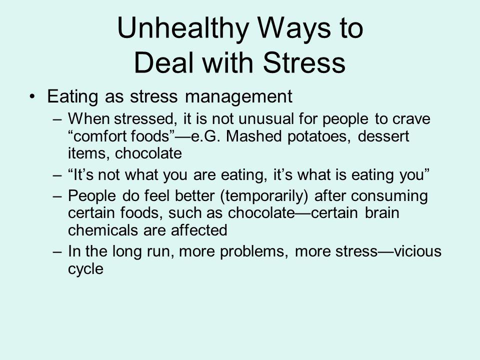 Unhealthy Ways to Deal with Stress