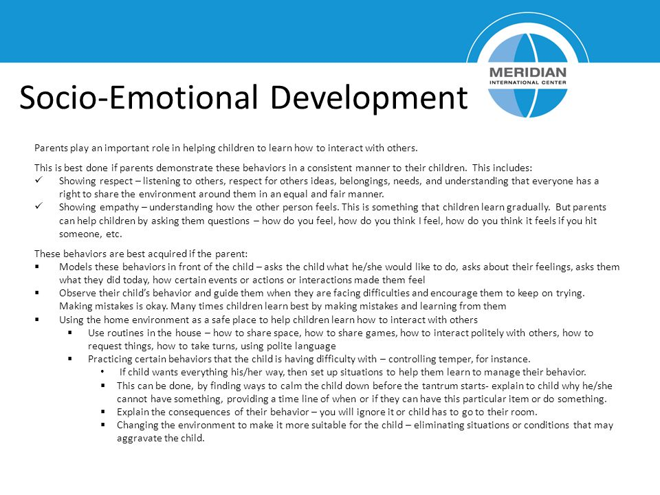 Socio-Emotional Development