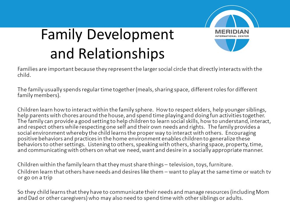 Family Development and Relationships
