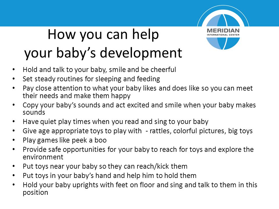 How you can help your baby's development