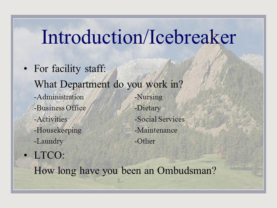 Introduction/Icebreaker