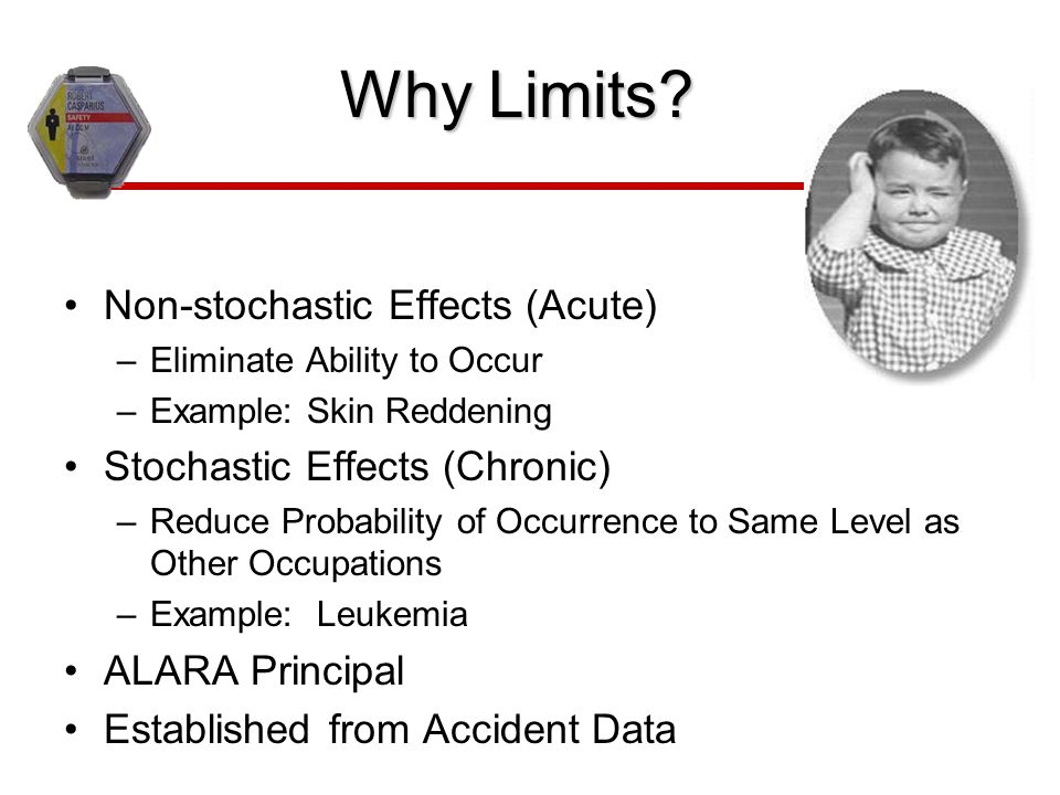 Why Limits Non-stochastic Effects (Acute)