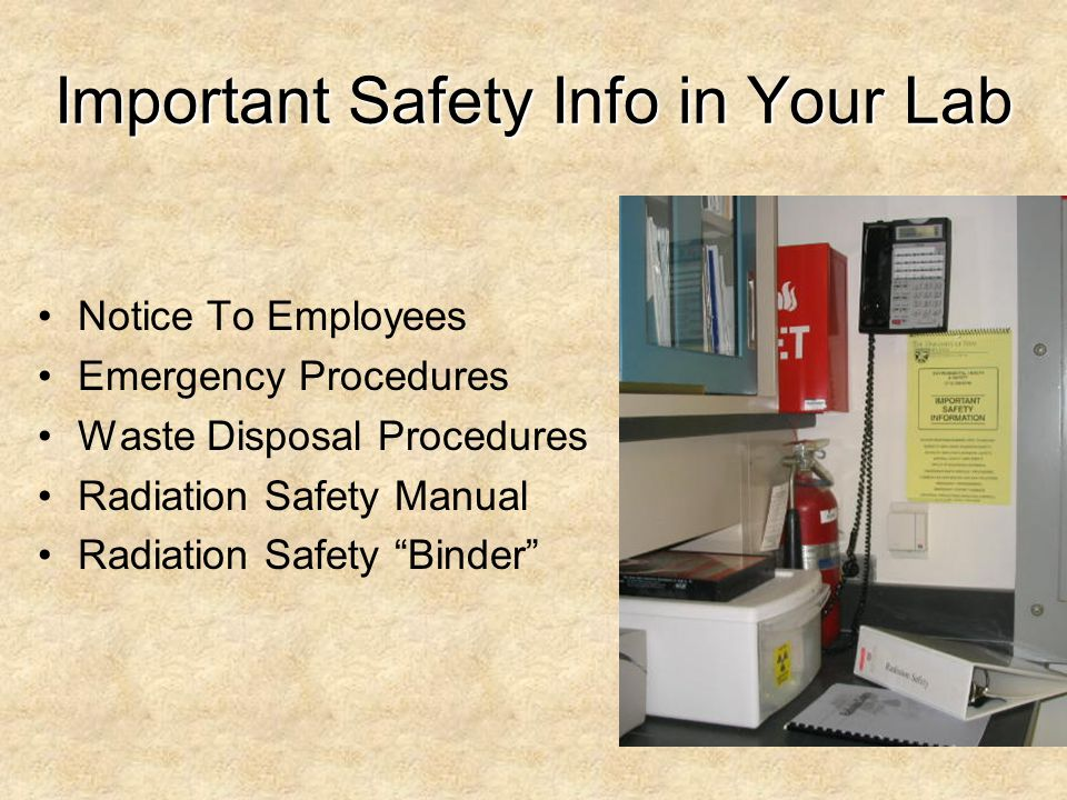 Important Safety Info in Your Lab