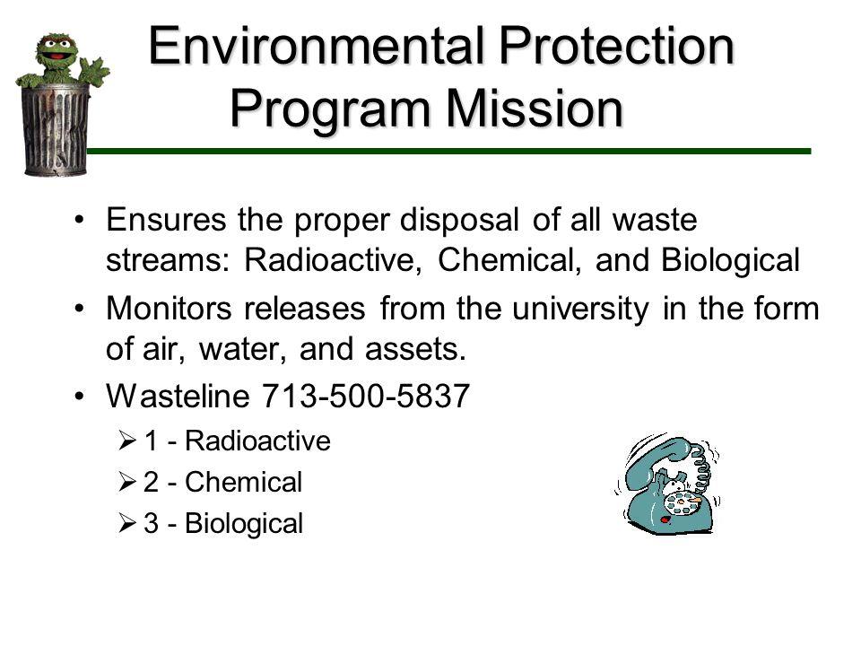 Environmental Protection Program Mission