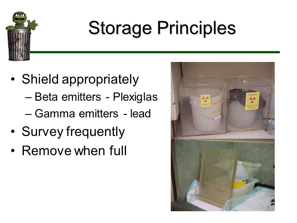 Storage Principles Shield appropriately Survey frequently