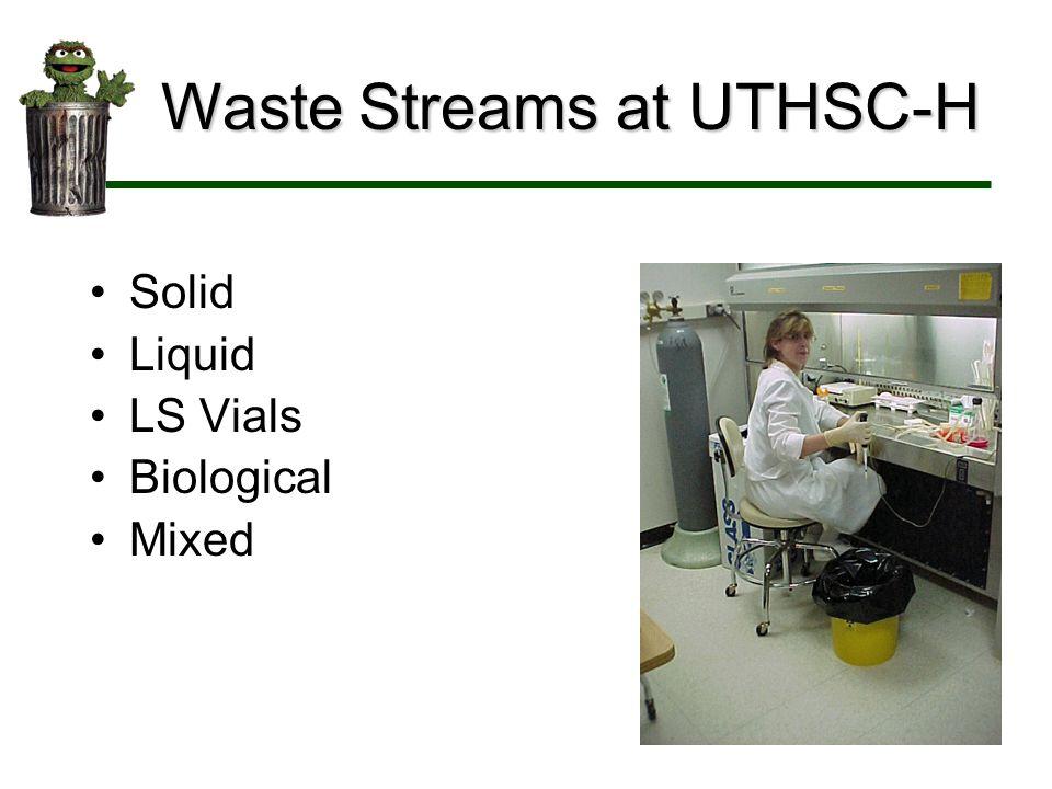 Waste Streams at UTHSC-H