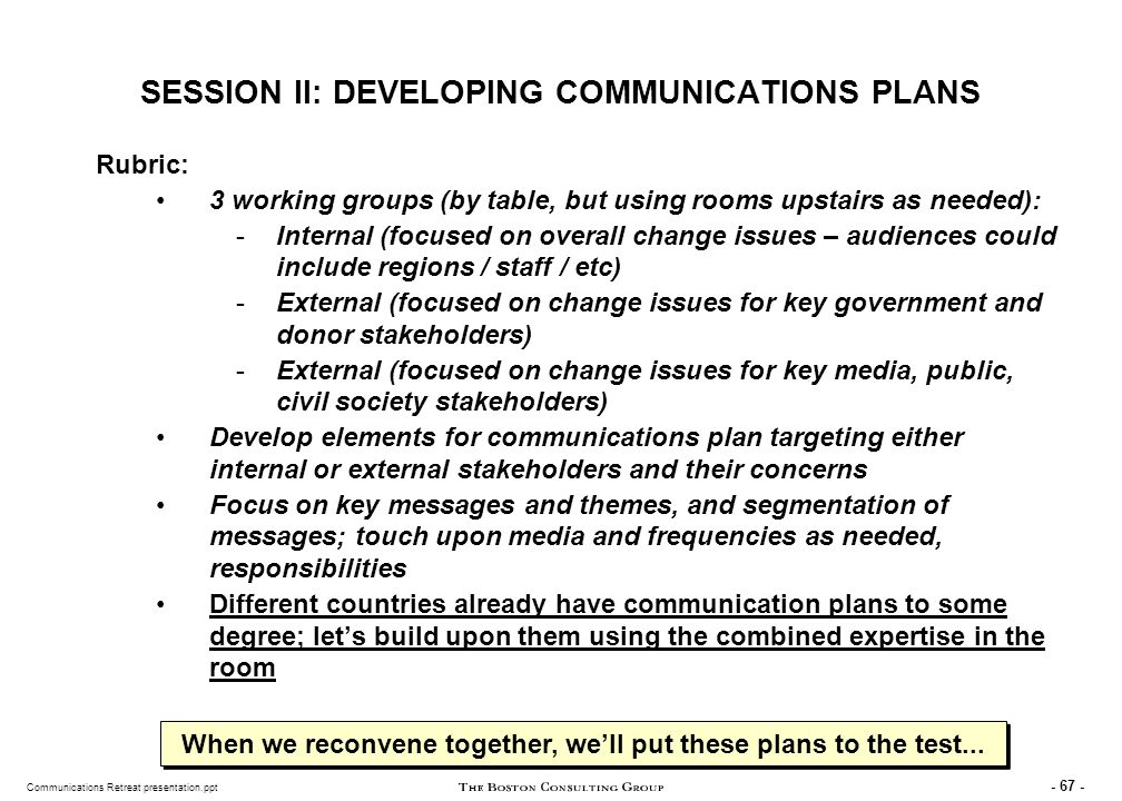 TEMPLATE FOR PILOT COMMUNICATIONS STRATEGIES