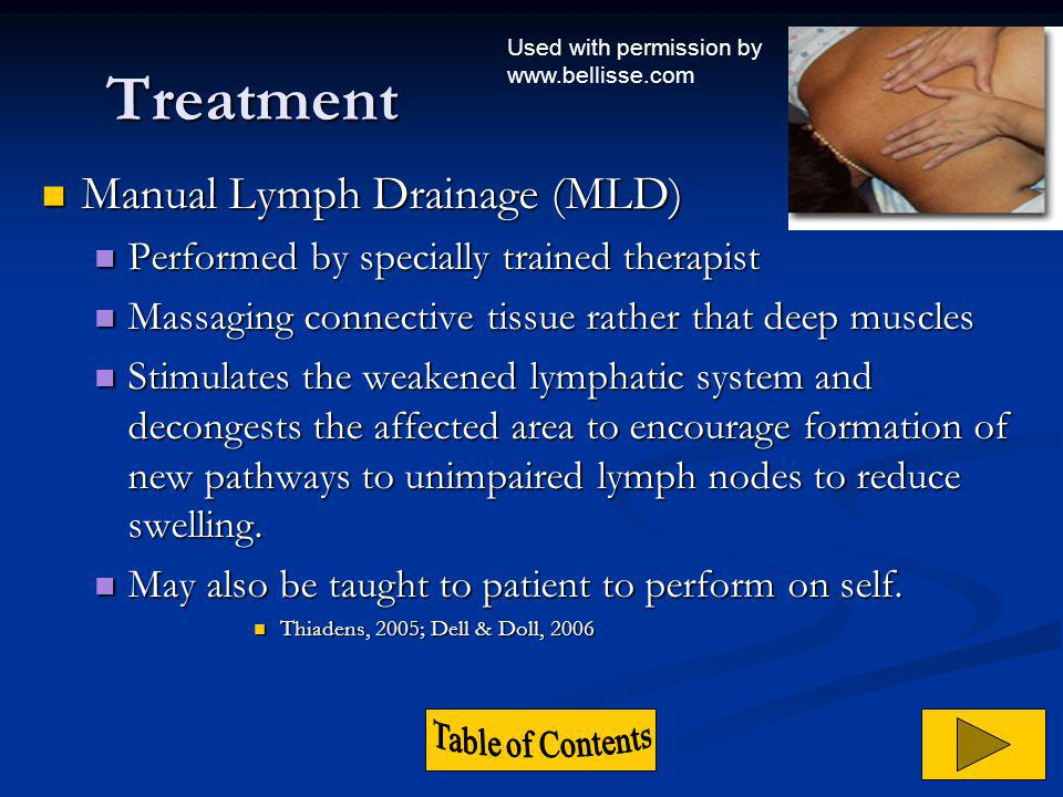 Treatment Manual Lymph Drainage (MLD)