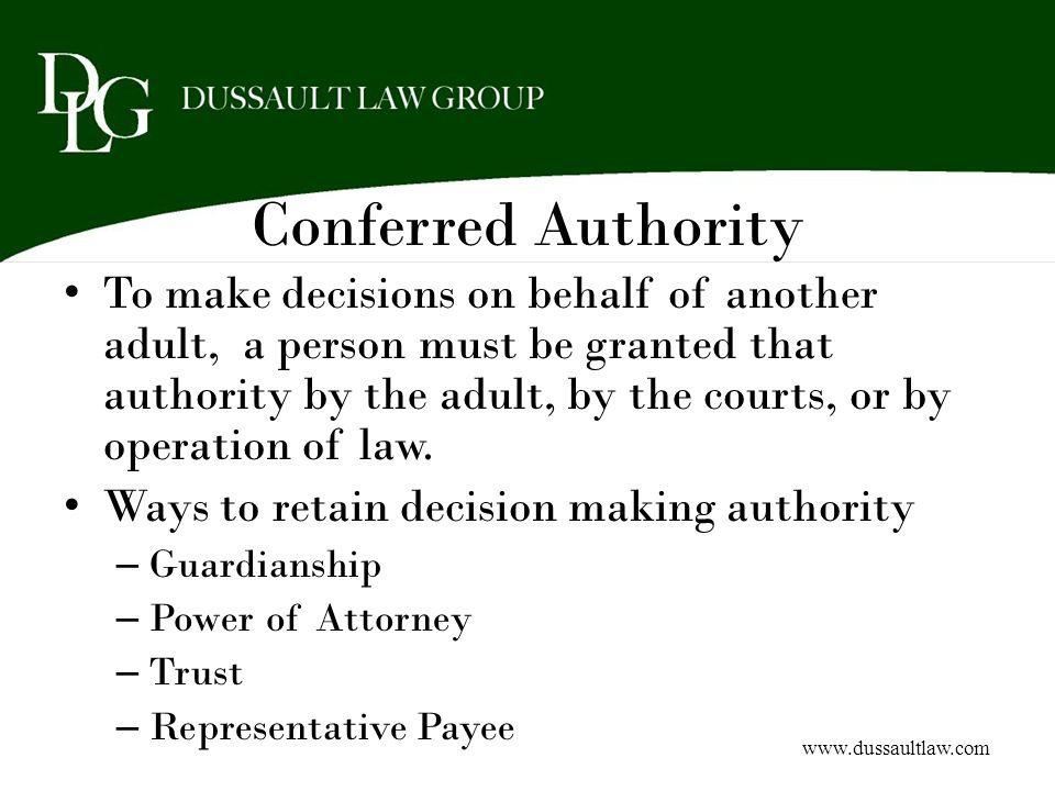 Conferred Authority