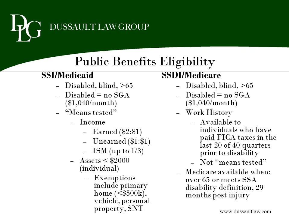 Public Benefits Eligibility