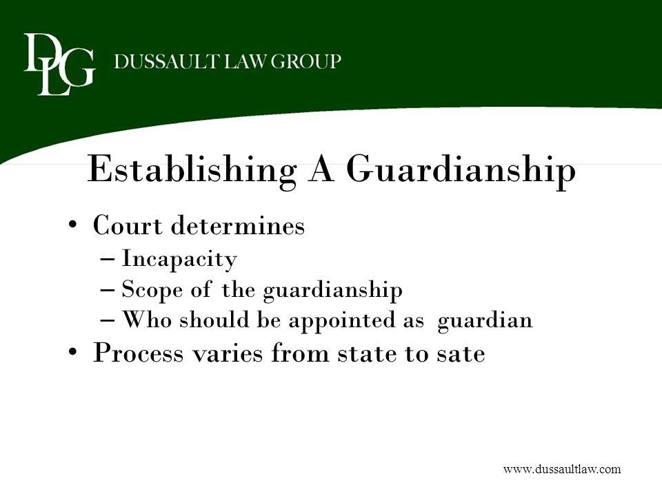 Establishing A Guardianship