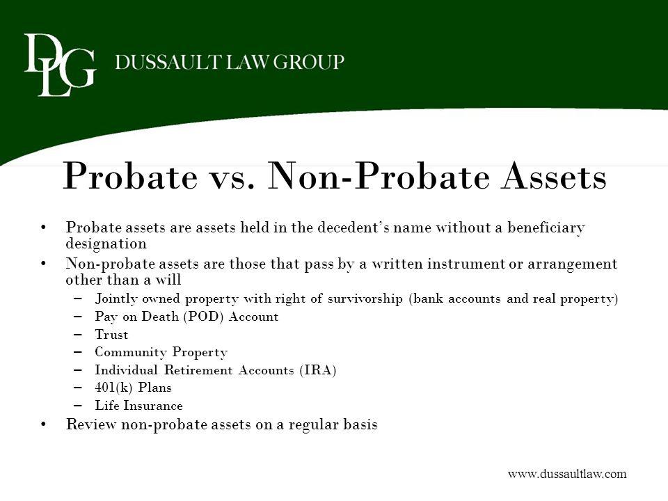 Probate vs. Non-Probate Assets