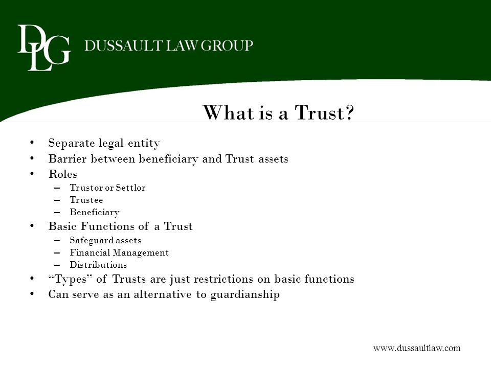 What is a Trust Separate legal entity