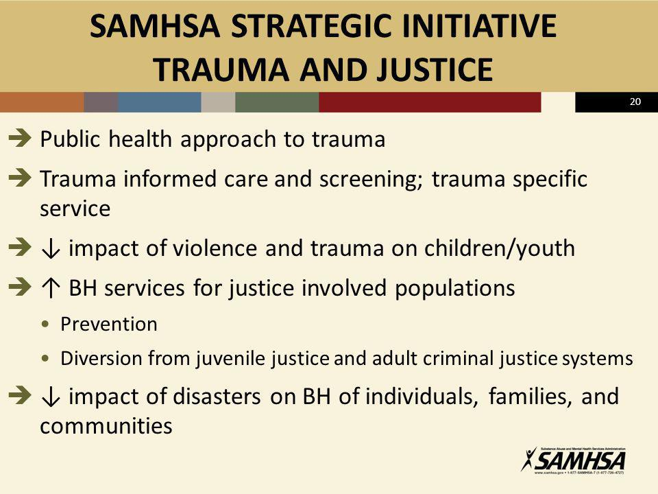 SAMHSA STRATEGIC INITIATIVE TRAUMA AND JUSTICE
