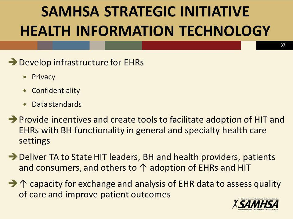 SAMHSA STRATEGIC INITIATIVE HEALTH INFORMATION TECHNOLOGY