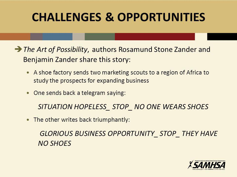 CHALLENGES & OPPORTUNITIES