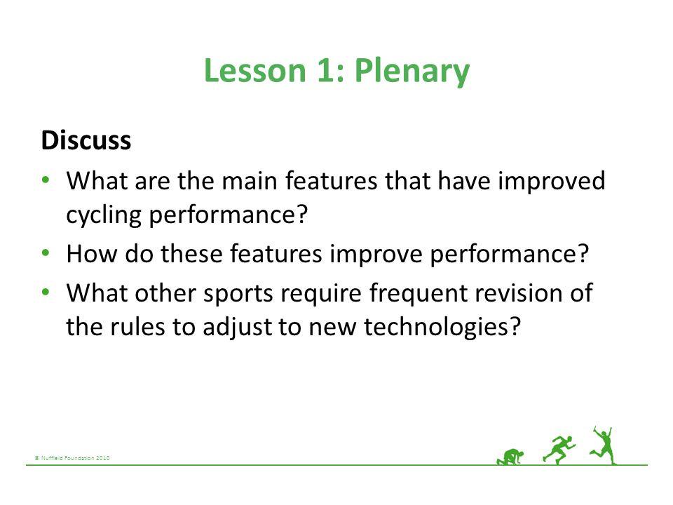 Lesson 1: Plenary Discuss