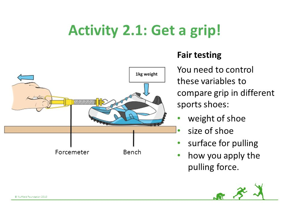 Activity 2.1: Get a grip! Fair testing