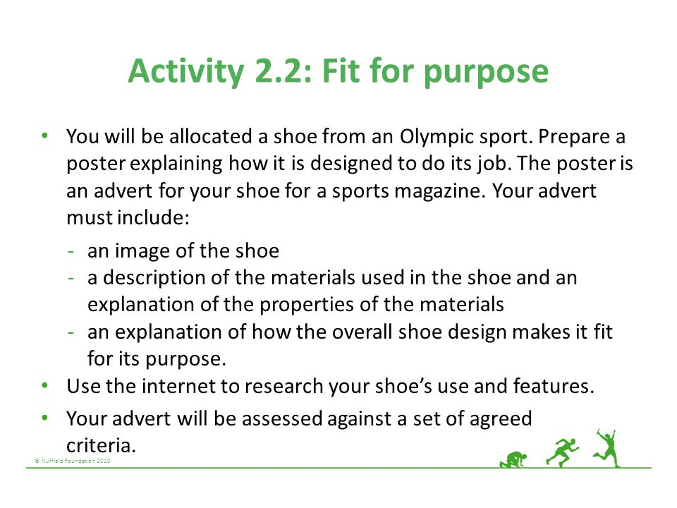 Activity 2.2: Fit for purpose