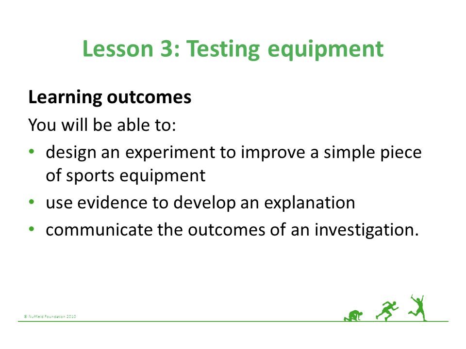 Lesson 3: Testing equipment