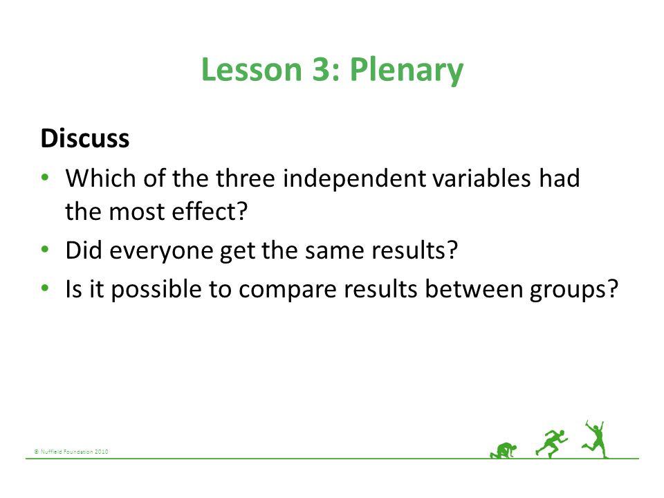 Lesson 3: Plenary Discuss
