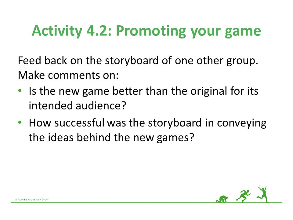 Activity 4.2: Promoting your game