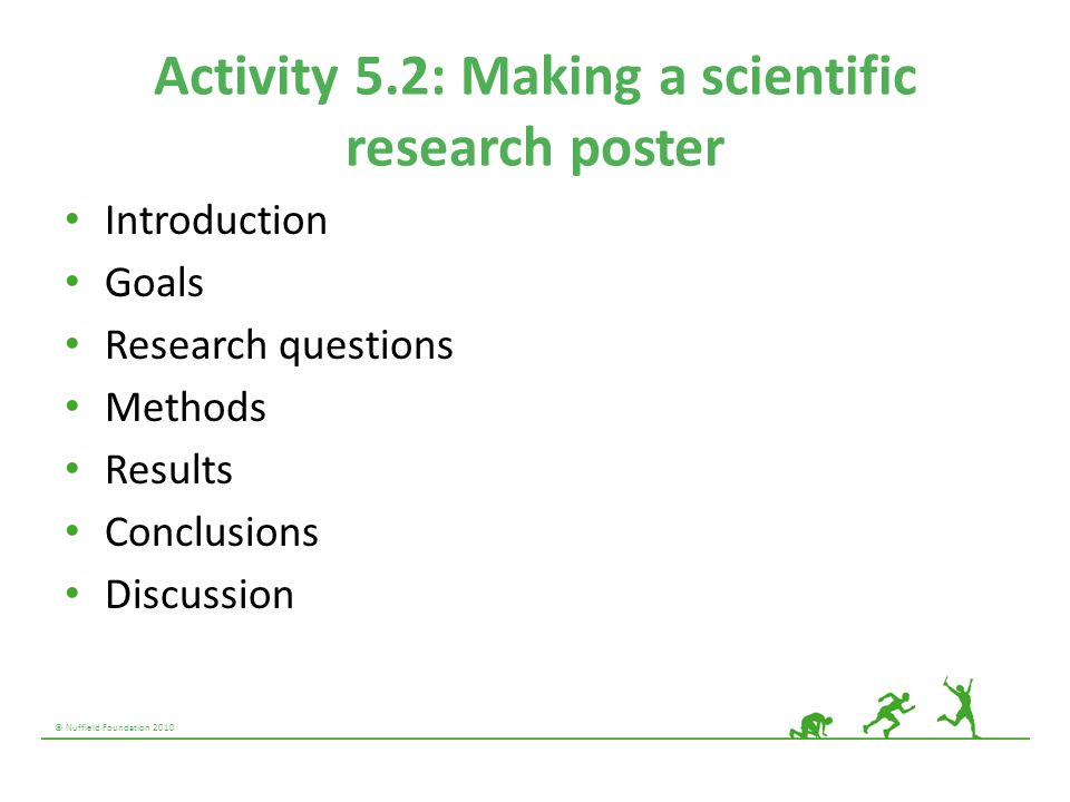 Activity 5.2: Making a scientific research poster