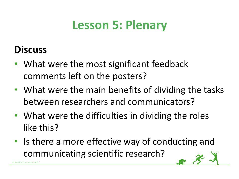 Lesson 5: Plenary Discuss