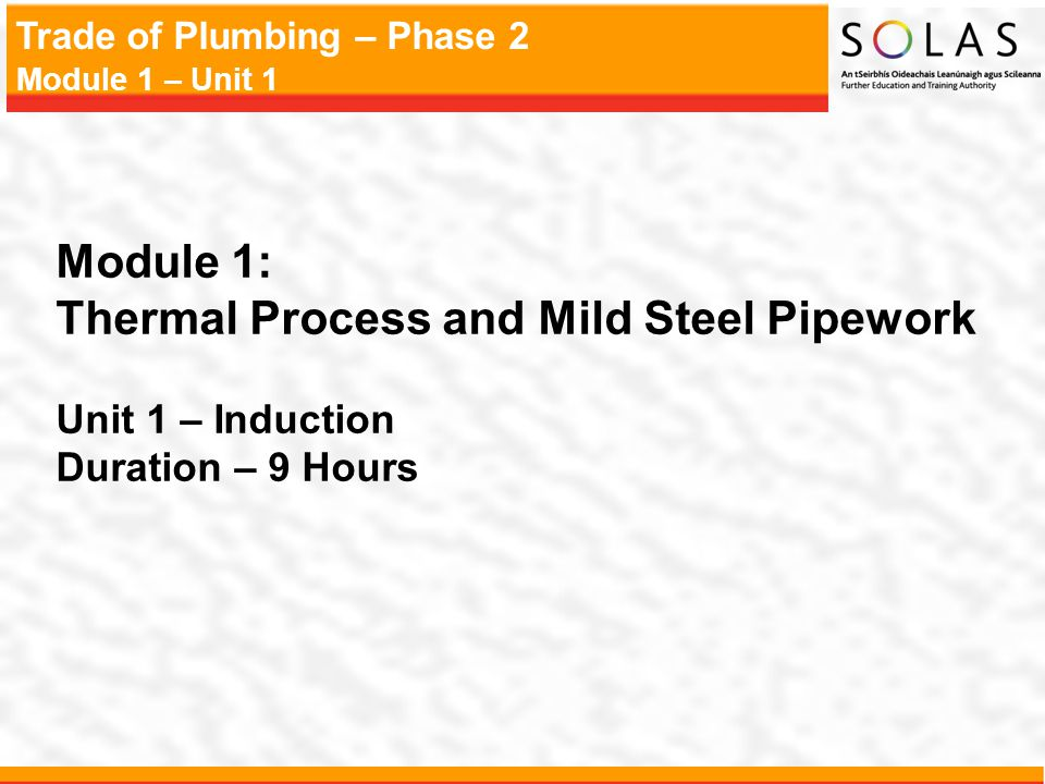Thermal Process and Mild Steel Pipework