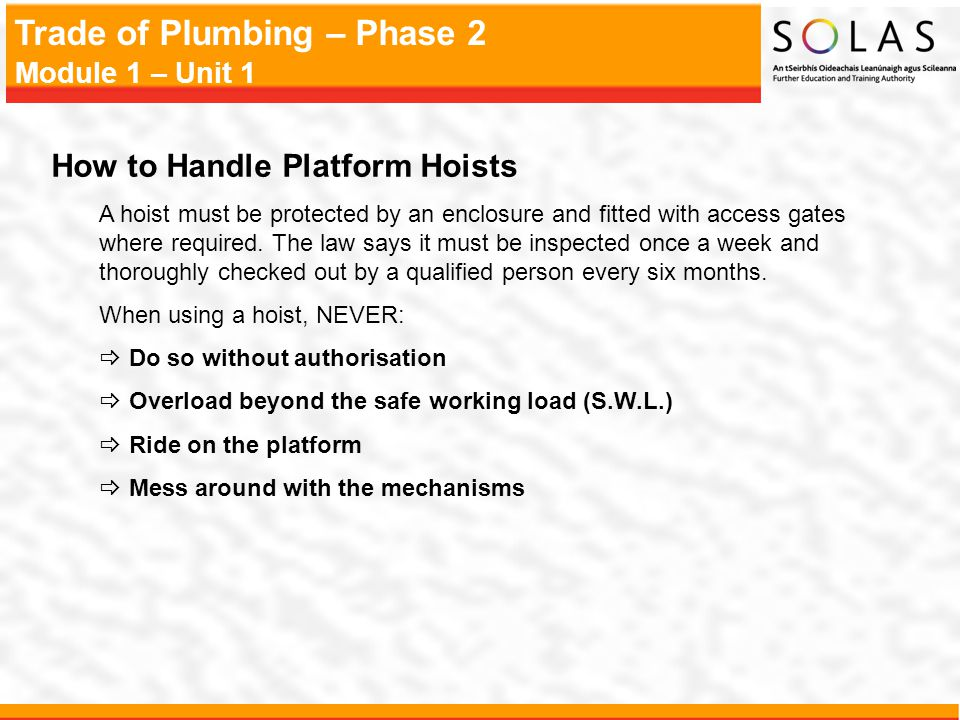 How to Handle Platform Hoists