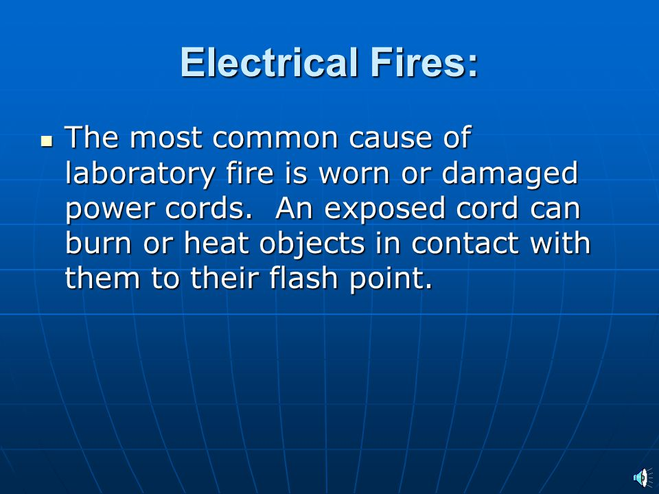 Electrical Fires: