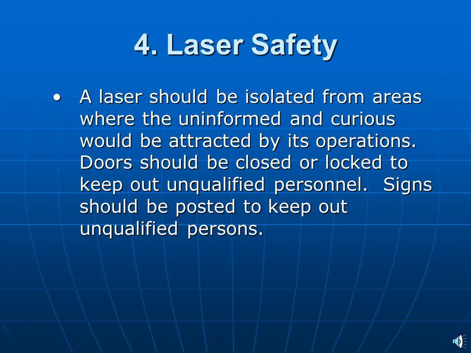 4. Laser Safety