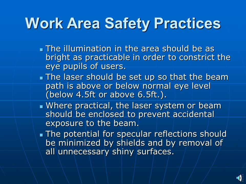 Work Area Safety Practices