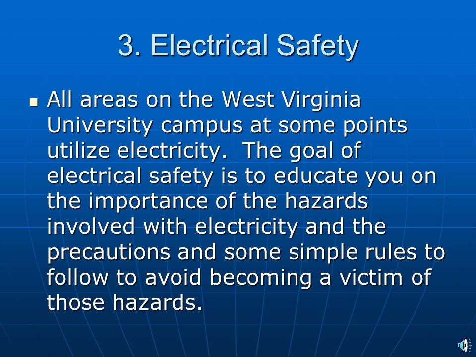 3. Electrical Safety