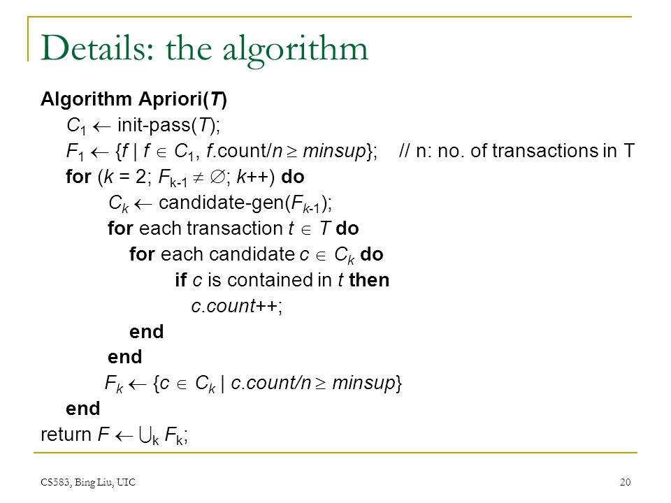 Details: the algorithm