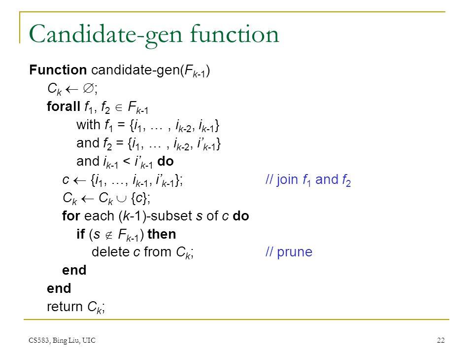 Candidate-gen function