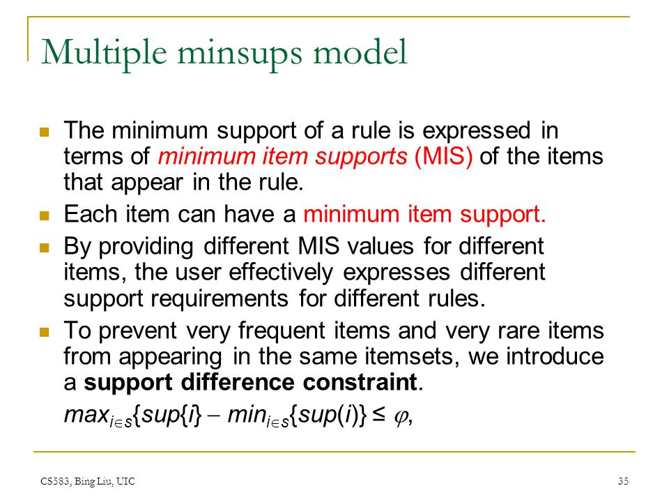 Multiple minsups model